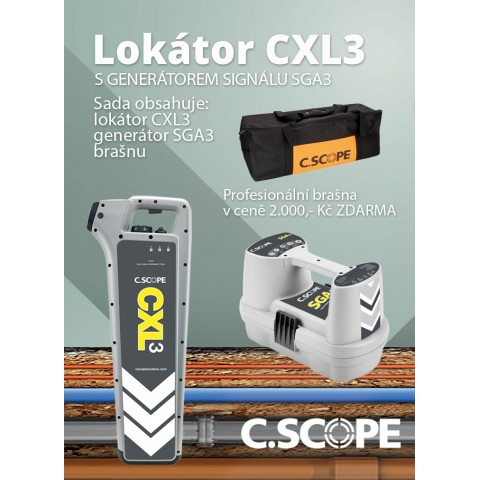 Detektor ing. sítí C.Scope CXL3 a generátor SGA3-set